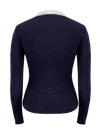 Long Sleeved Nomad Knit Top in Navy