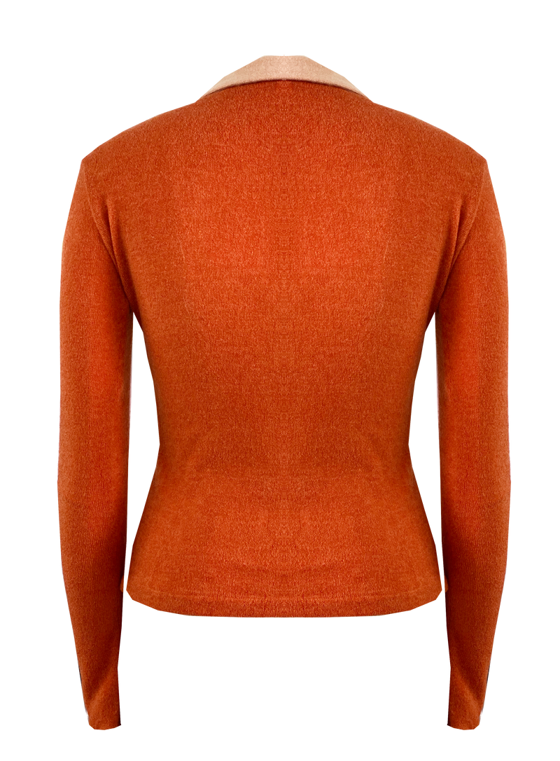 Long Sleeved Nomad Knit Top in Orange