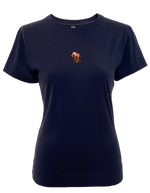 Pima Cotton T Shirt with Elephant Embroidery