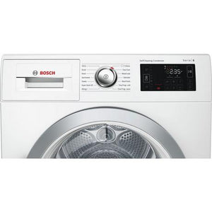 Bosch WTWH7660GB 9kg Condenser Tumble Dryer with Heat Pump - White - A++ Energy Rated