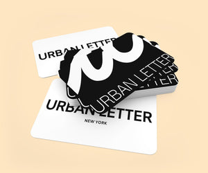 GIFT CARDS-Urban Letter premium, high quality,and unique streetwear inspired by you