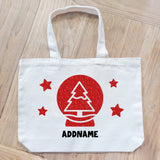 Teezbee.com - Xmas Tree Globe Canvas Bag
