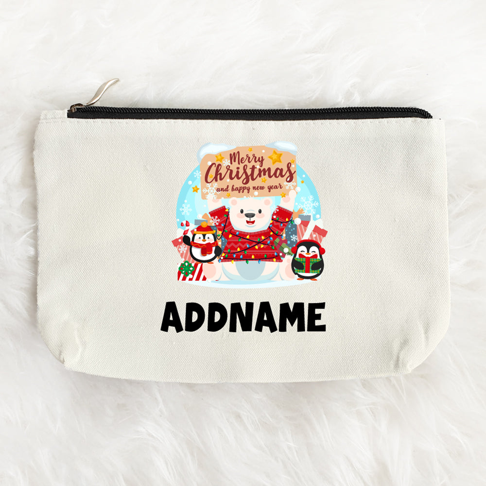Teezbee.com - Xmas Happy New Year Zipper Pouch