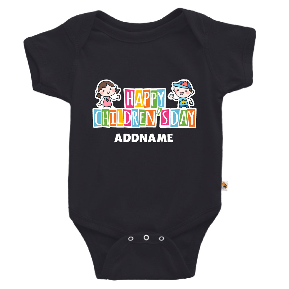 Teezbee.com - Adorable Children - Romper (Black)
