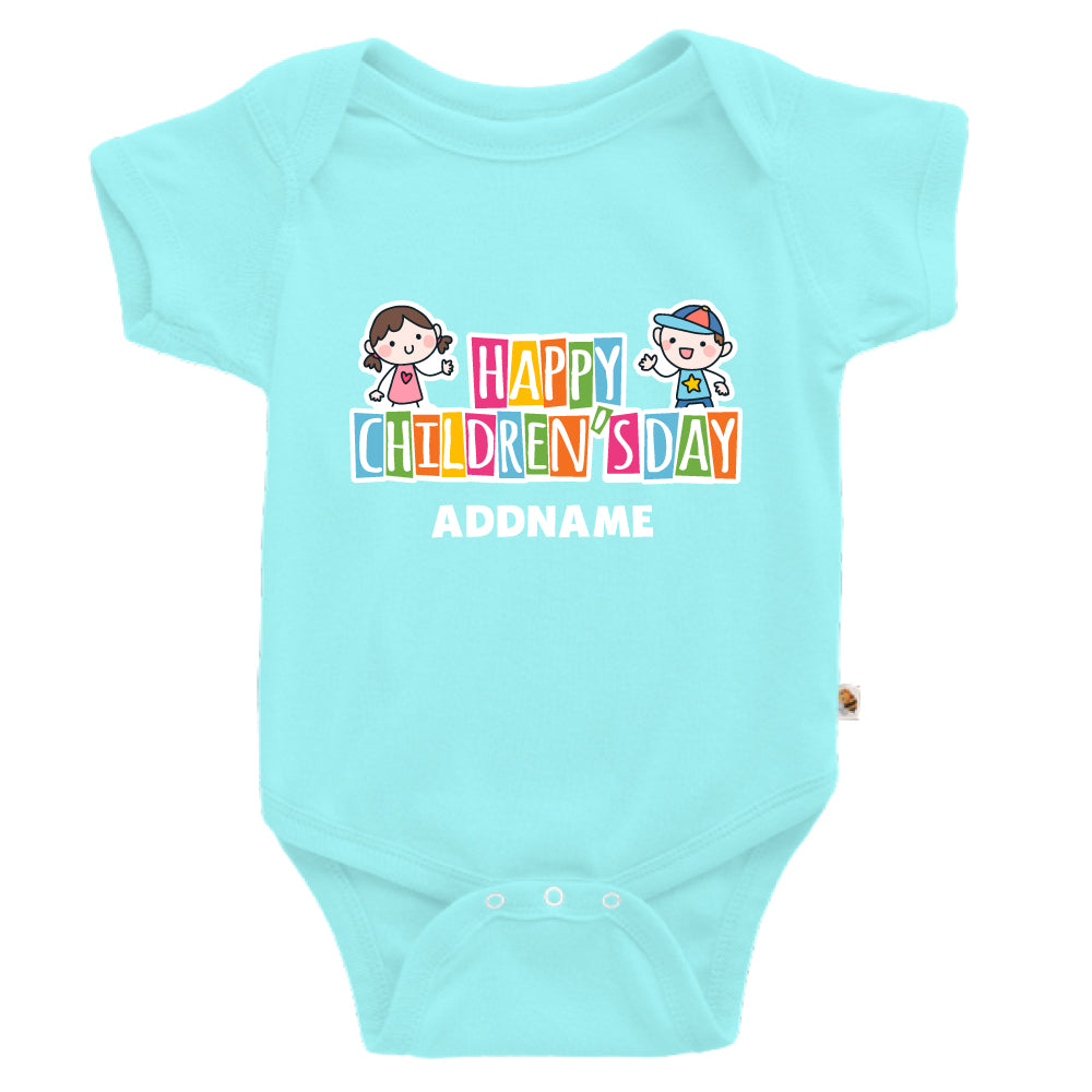 Teezbee.com - Adorable Children - Romper (Light Blue)