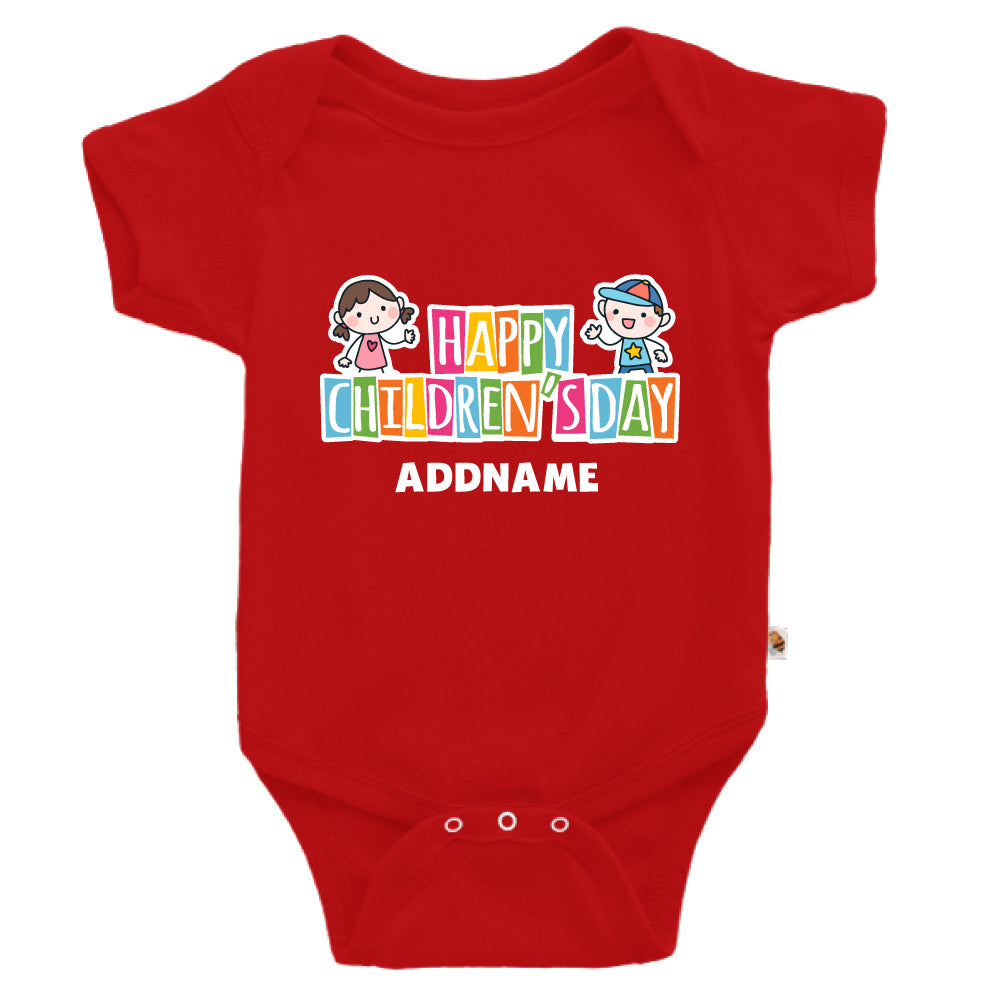 Teezbee.com - Adorable Children - Romper (Red)