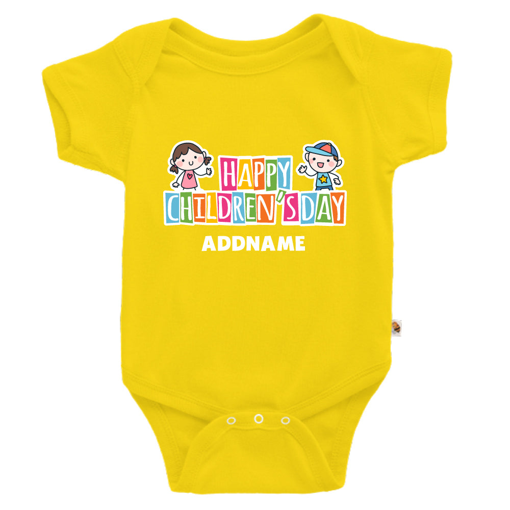 Teezbee.com - Adorable Children - Romper (Yellow)