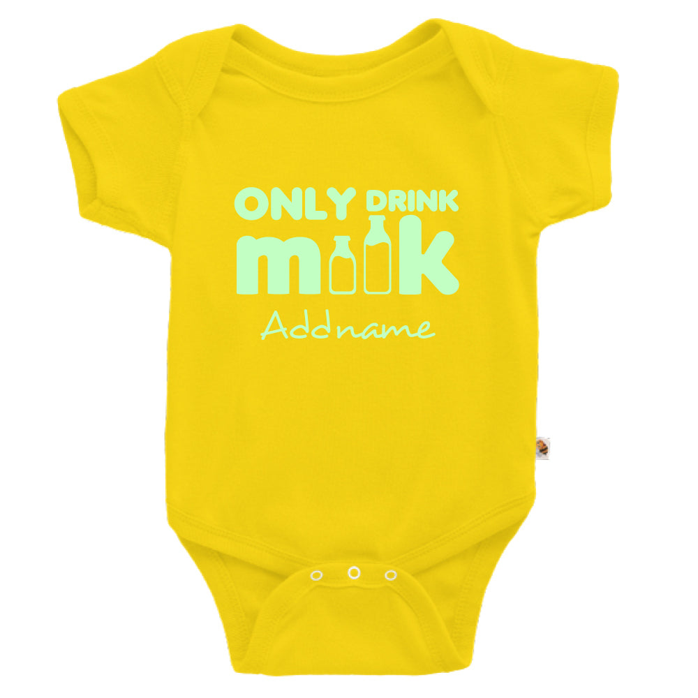 Teezbee.com - Only Drink Milk Glow in the Dark - Romper (Yellow)