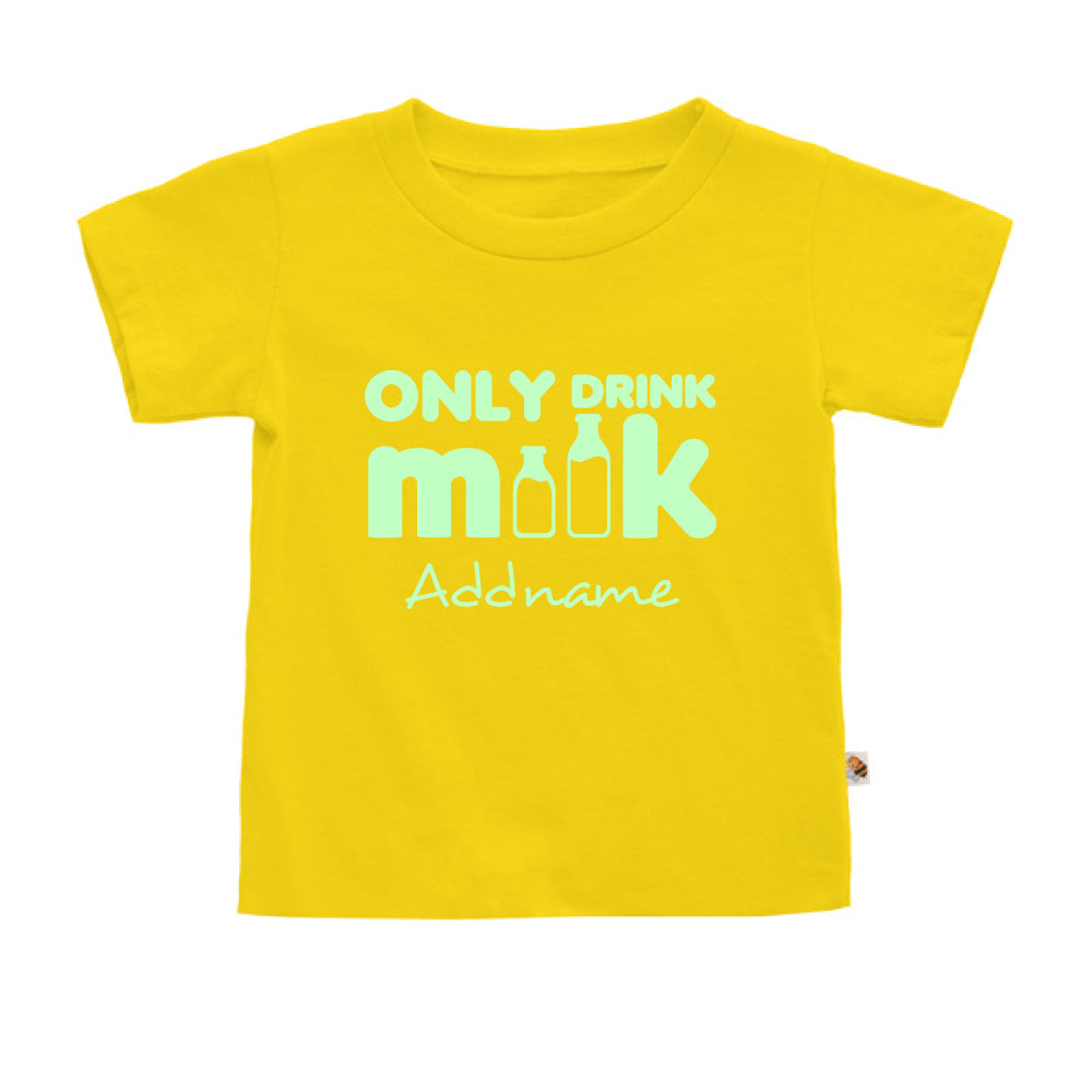 Teezbee.com - Only Drink Milk Glow in the Dark - Kids-T (Yellow)