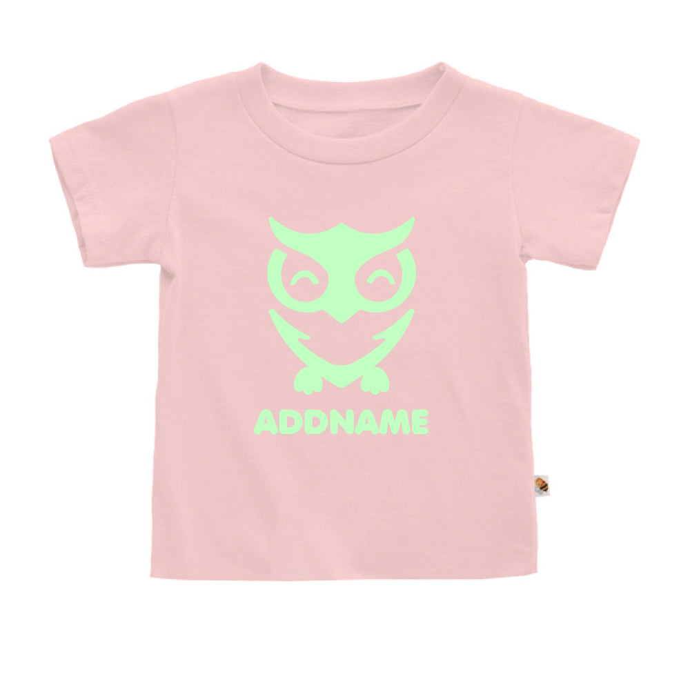 Teezbee.com - Cute Owl Bird Glow in the Dark - Kids-T (Pink)