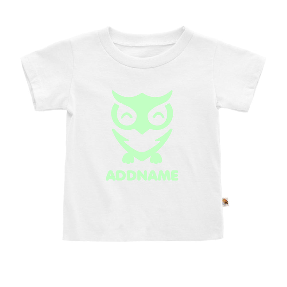 Teezbee.com - Cute Owl Bird Glow in the Dark - Kids-T (White)