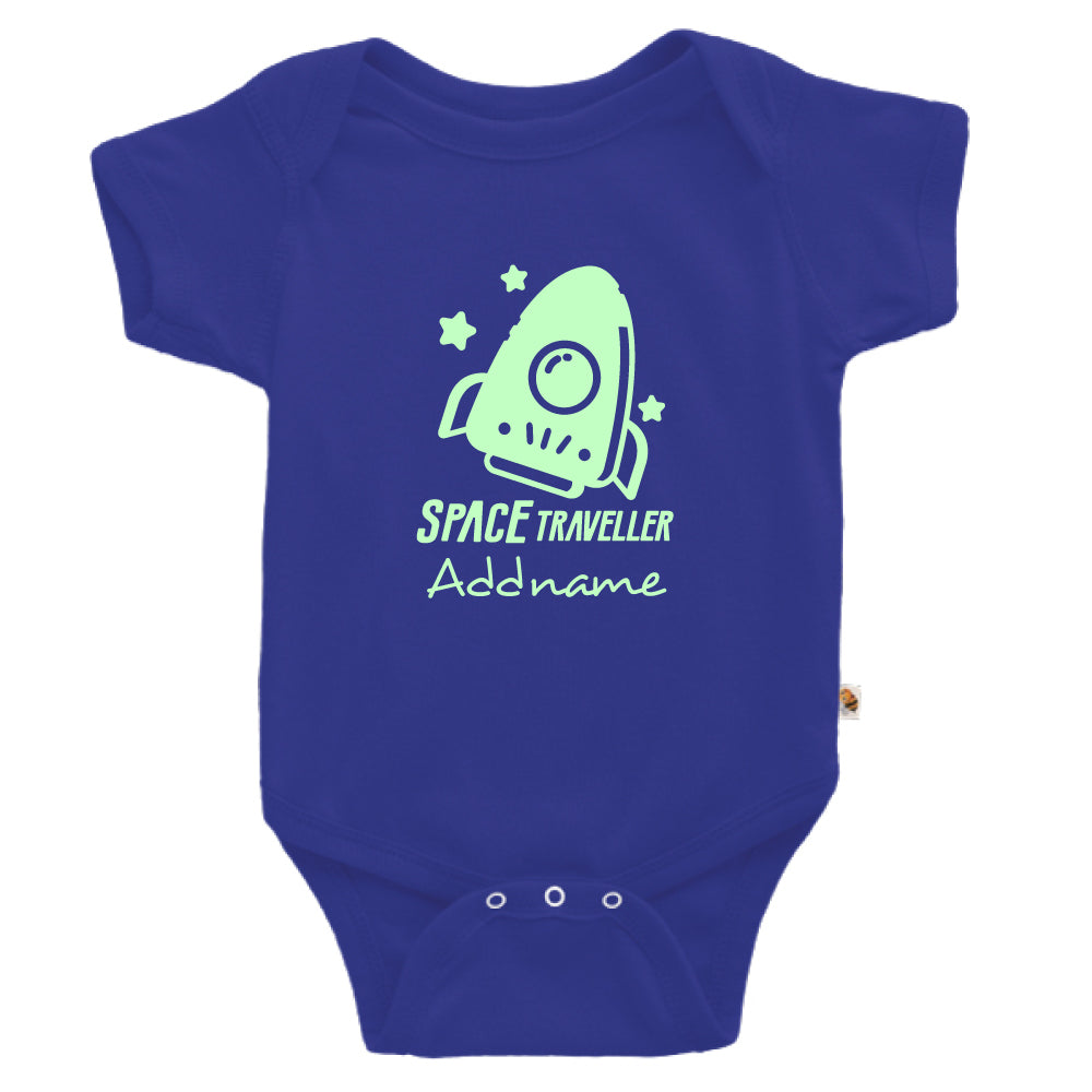 Teezbee.com - Space Traveller Glow in the Dark - Romper (Blue)