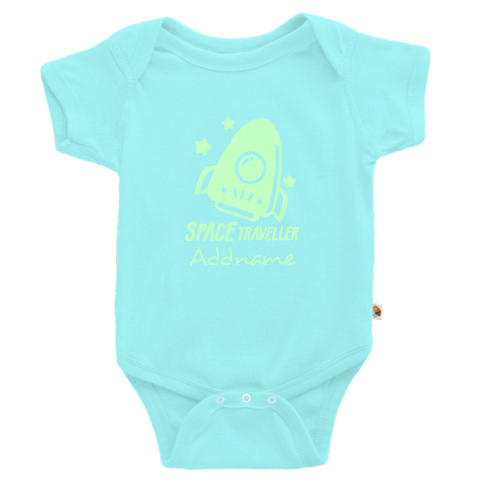 Teezbee.com - Space Traveller Glow in the Dark - Romper (Light Blue)