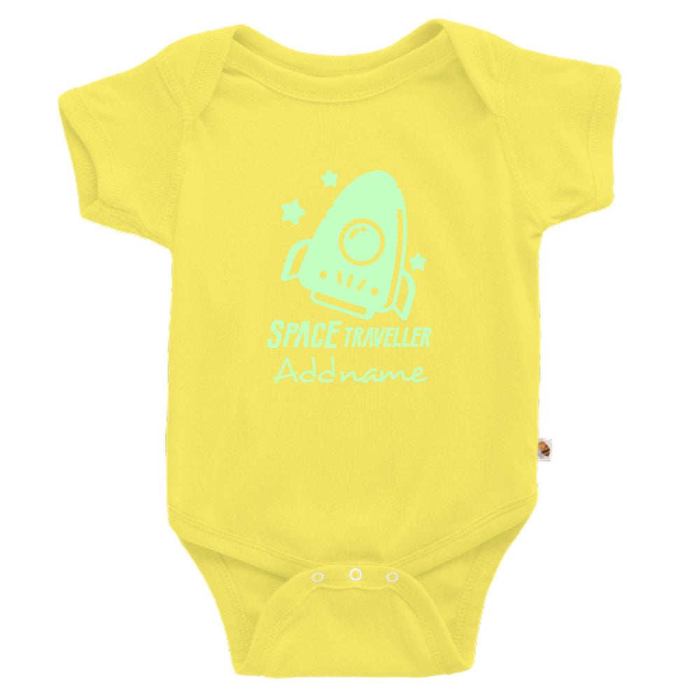 Teezbee.com - Space Traveller Glow in the Dark - Romper (Light Yellow)