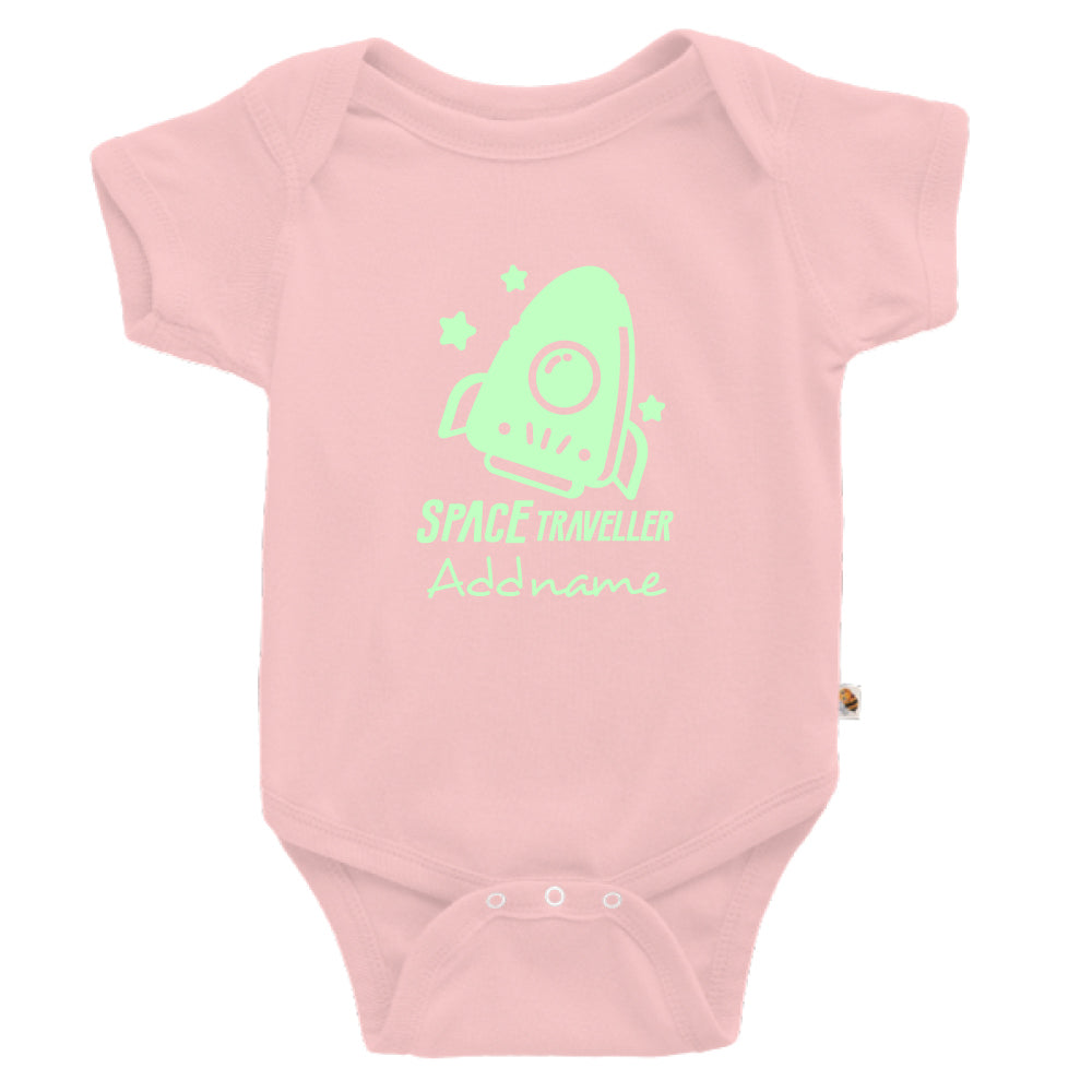 Teezbee.com - Space Traveller Glow in the Dark - Romper (Pink)