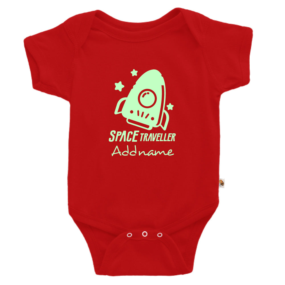 Teezbee.com - Space Traveller Glow in the Dark - Romper (Red)