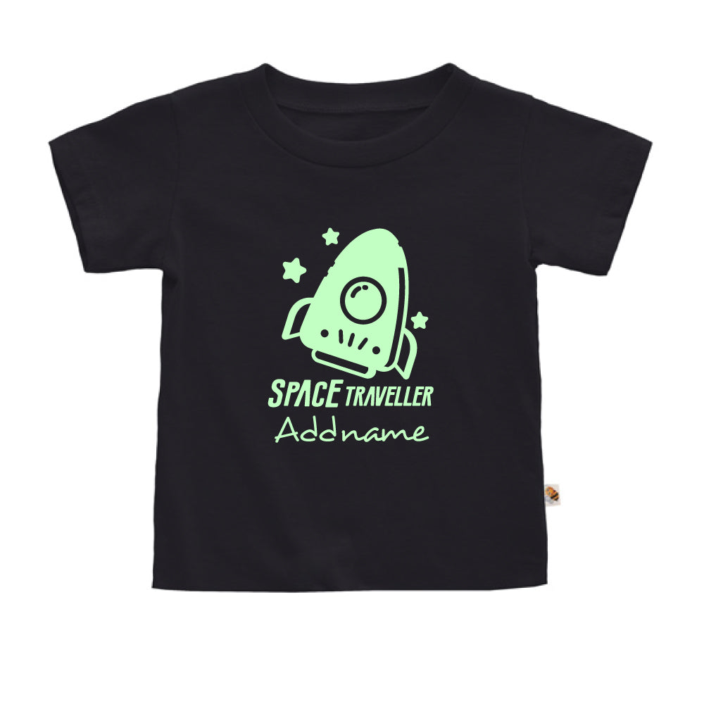 Teezbee.com - Space Traveller Glow in the Dark - Kids-T (Black)