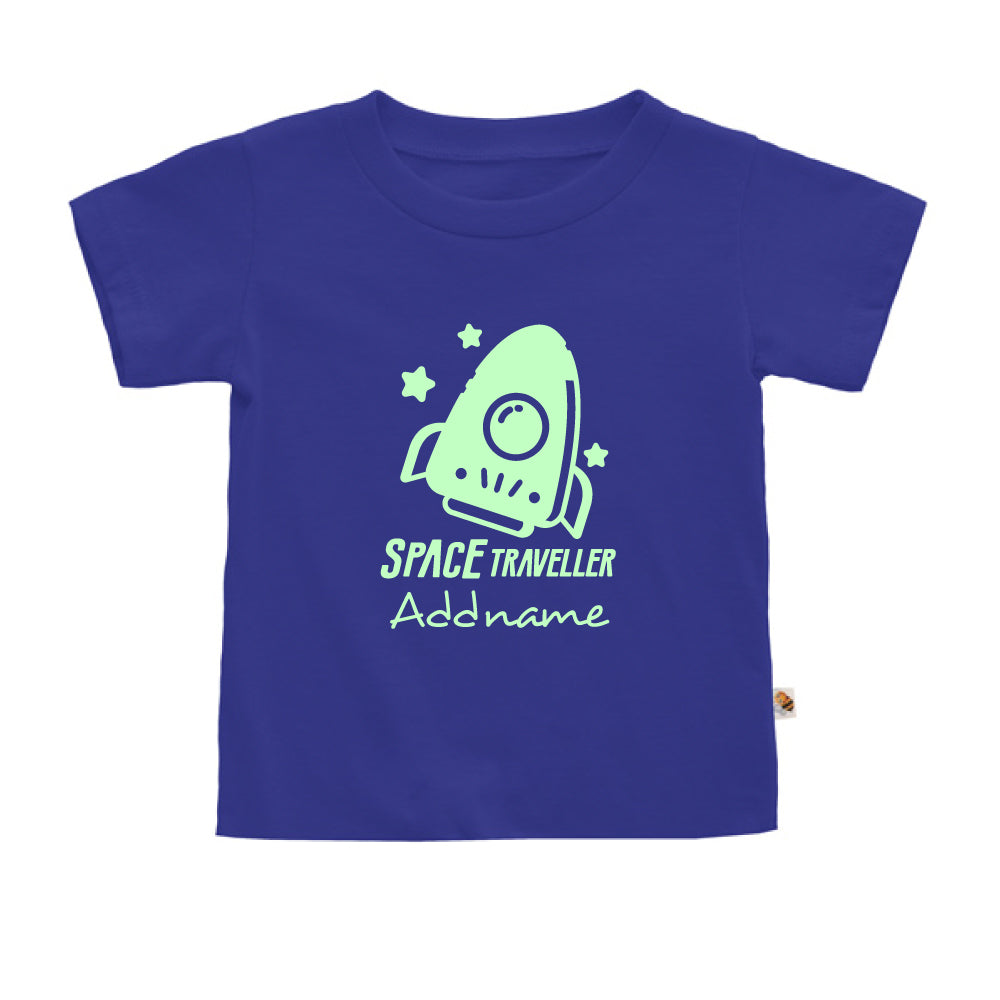 Teezbee.com - Space Traveller Glow in the Dark - Kids-T (Blue)