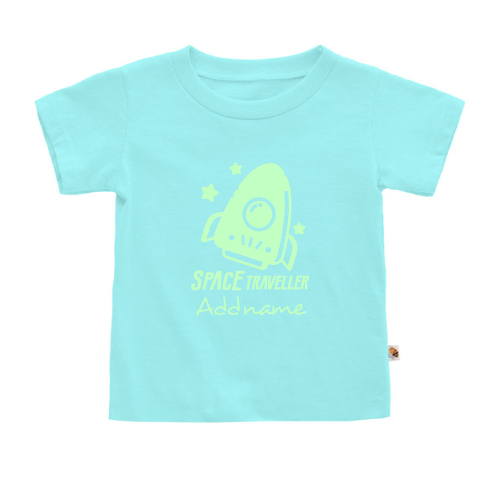 Teezbee.com - Space Traveller Glow in the Dark - Kids-T (Light Blue)
