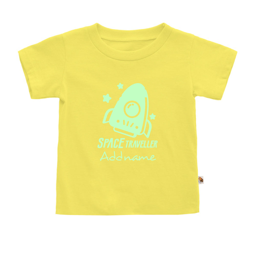 Teezbee.com - Space Traveller Glow in the Dark - Kids-T (Light Yellow)