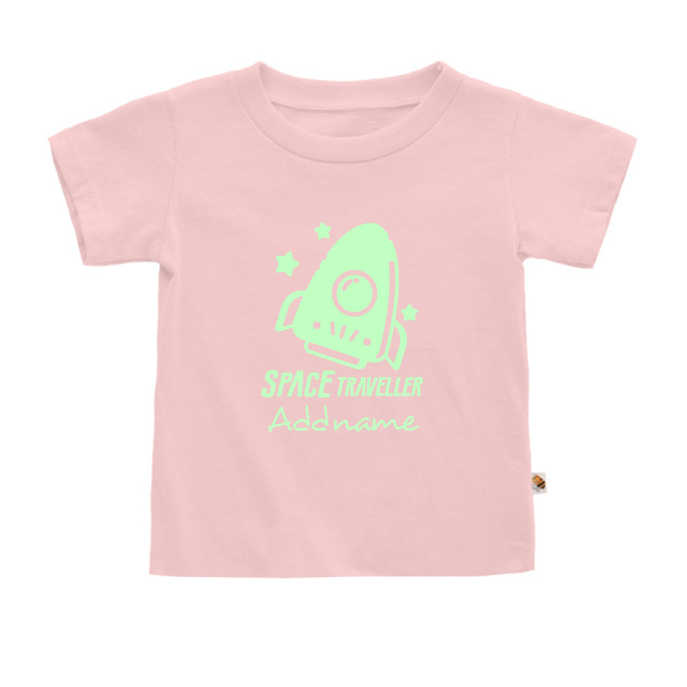 Teezbee.com - Space Traveller Glow in the Dark - Kids-T (Pink)