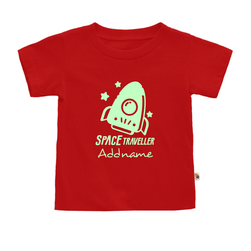 Teezbee.com - Space Traveller Glow in the Dark - Kids-T (Red)