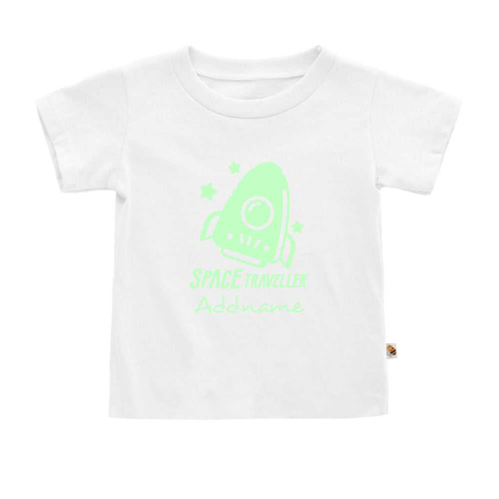 Teezbee.com - Space Traveller Glow in the Dark - Kids-T (White)