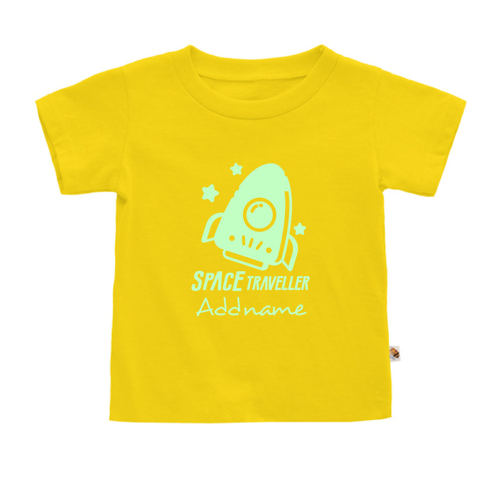 Teezbee.com - Space Traveller Glow in the Dark - Kids-T (Yellow)