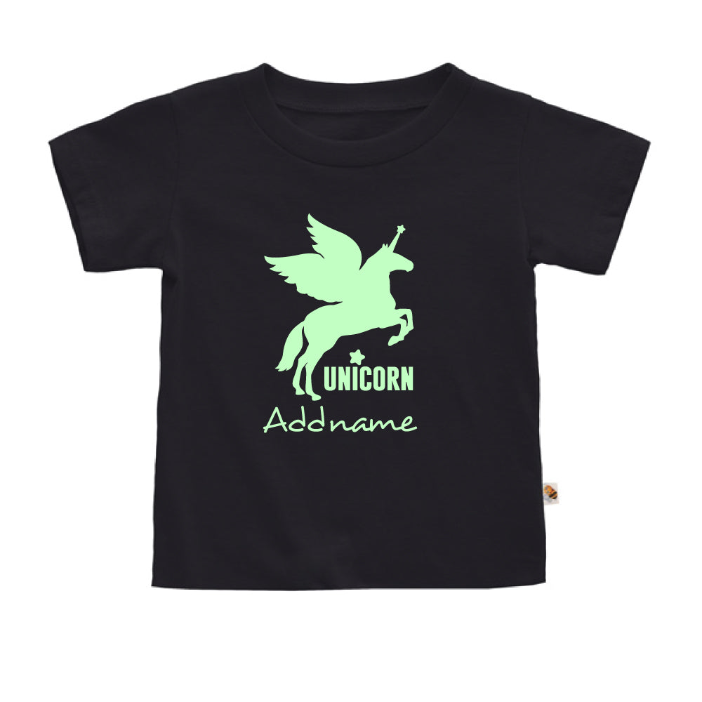 Teezbee.com - Im A Unicorn Glow in the Dark - Kids-T (Black)