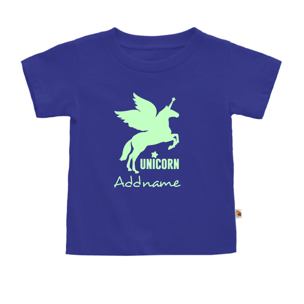 Teezbee.com - Im A Unicorn Glow in the Dark - Kids-T (Blue)