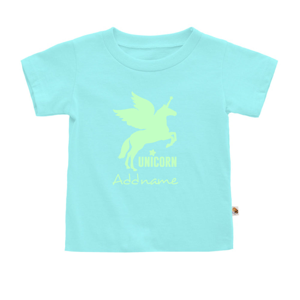 Teezbee.com - Im A Unicorn Glow in the Dark - Kids-T (Light Blue)