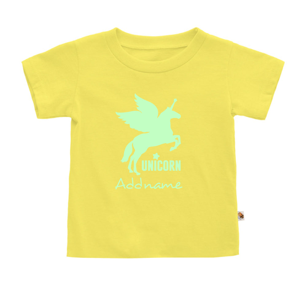 Teezbee.com - Im A Unicorn Glow in the Dark - Kids-T (Light Yellow)