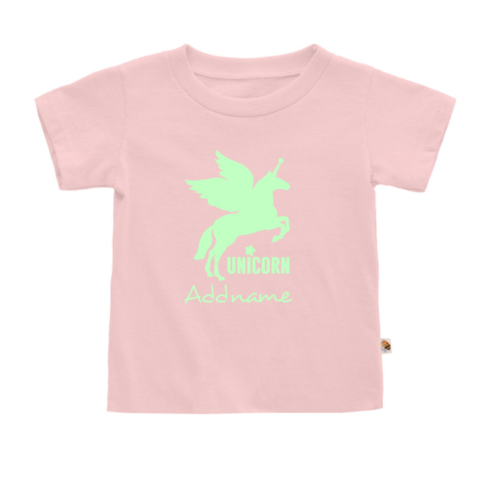 Teezbee.com - Im A Unicorn Glow in the Dark - Kids-T (Pink)