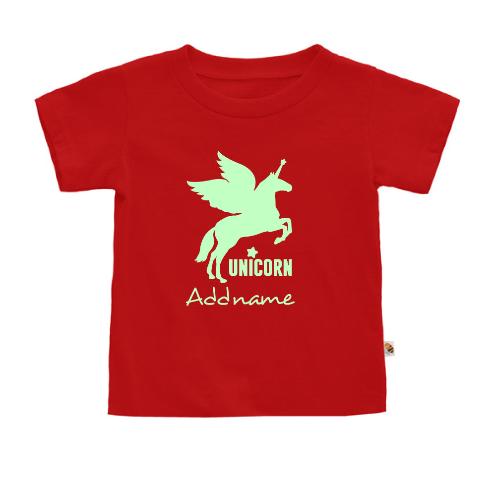 Teezbee.com - Im A Unicorn Glow in the Dark - Kids-T (Red)