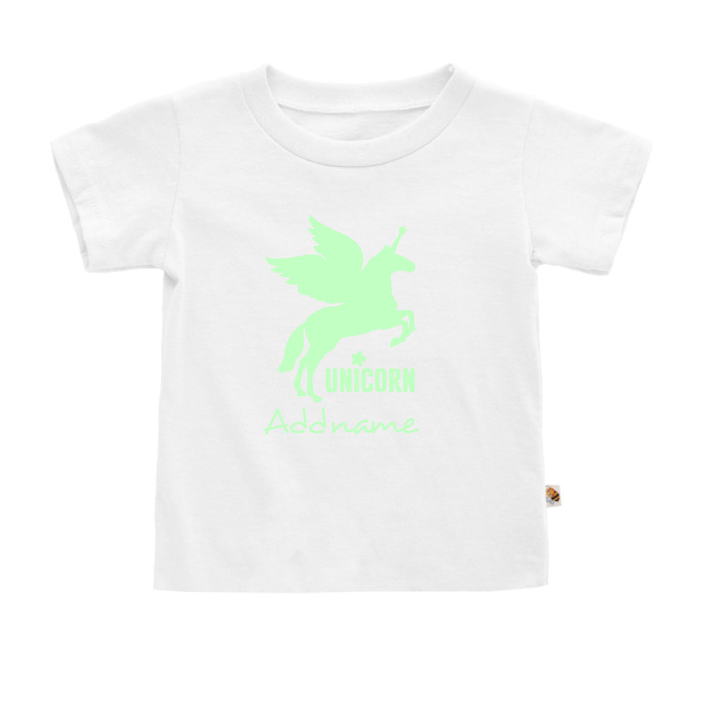 Teezbee.com - Im A Unicorn Glow in the Dark - Kids-T (White)
