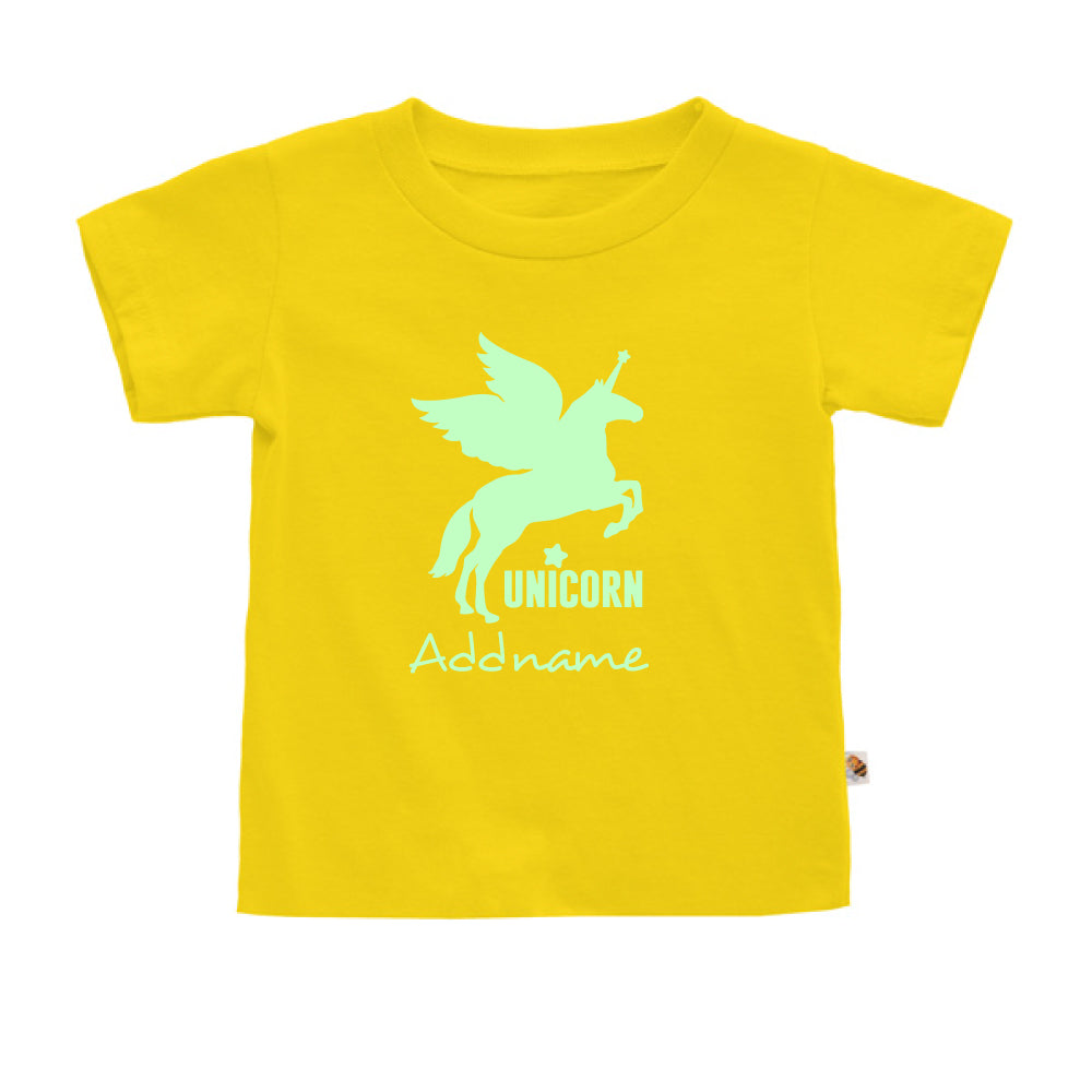 Teezbee.com - Im A Unicorn Glow in the Dark - Kids-T (Yellow)