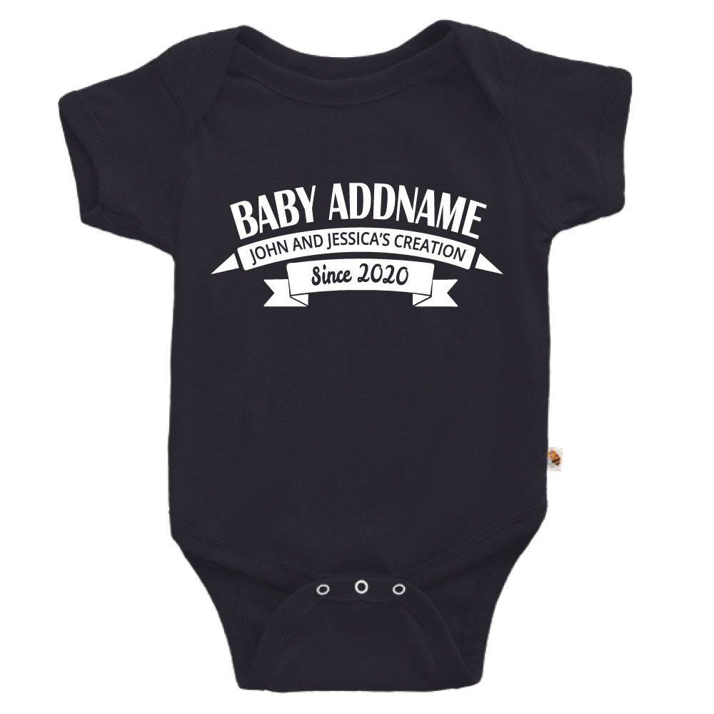 Teezbee.com - Name With Creation - Romper (Black)