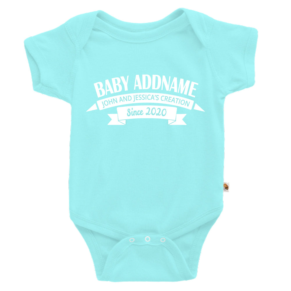 Teezbee.com - Name With Creation - Romper (Light Blue)
