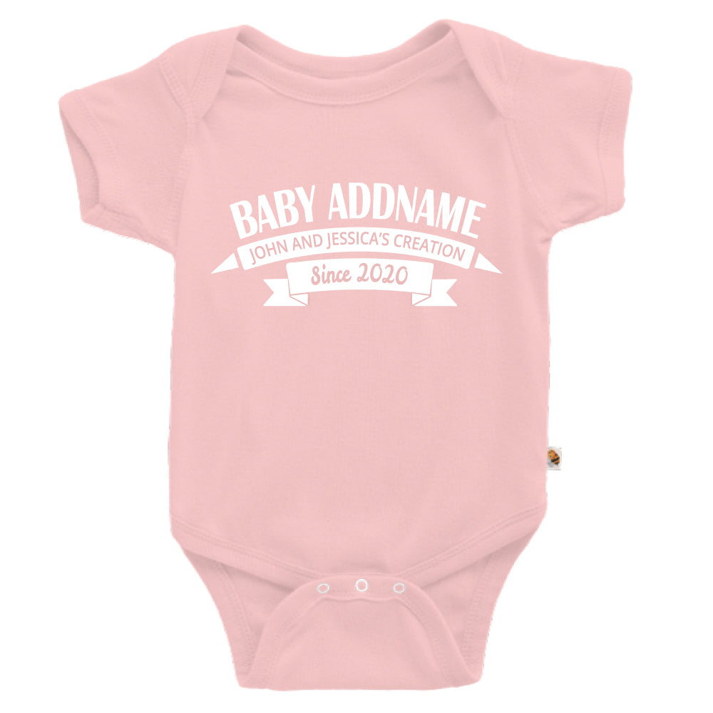 Teezbee.com - Name With Creation - Romper (Pink)