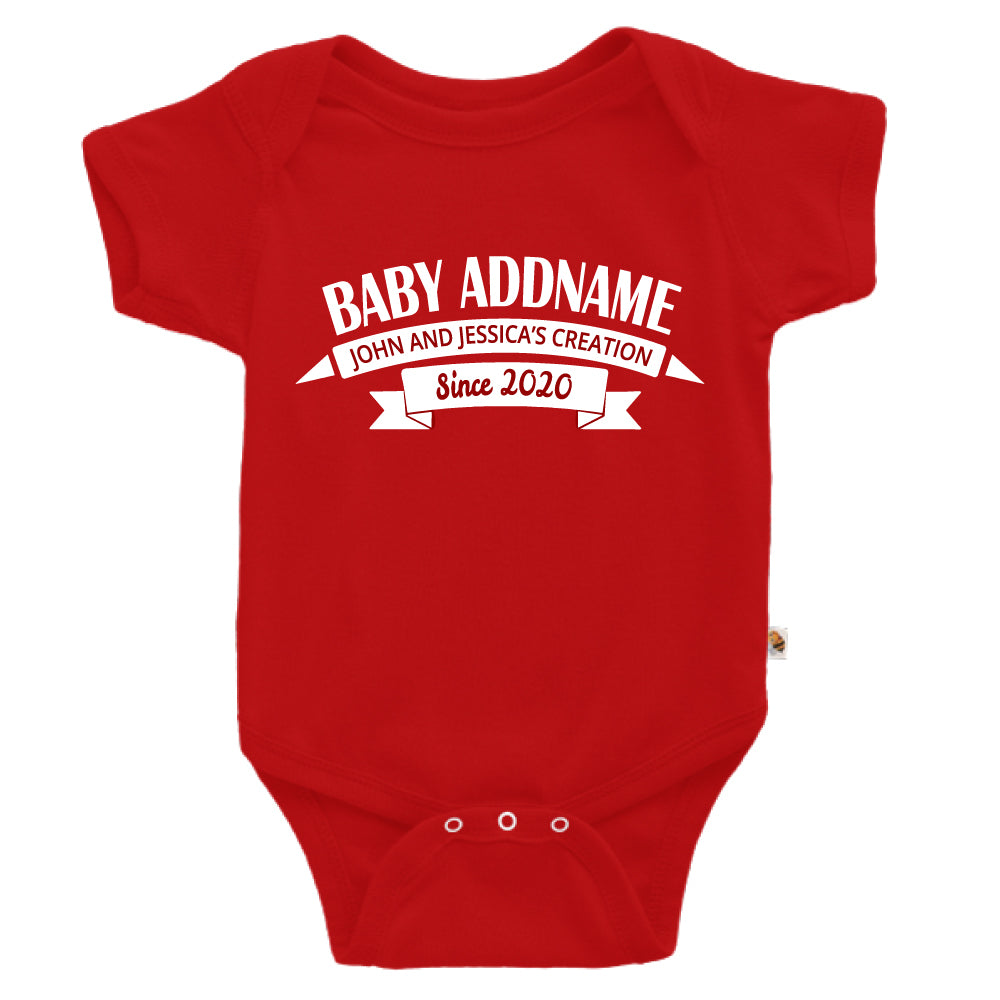 Teezbee.com - Name With Creation - Romper (Red)