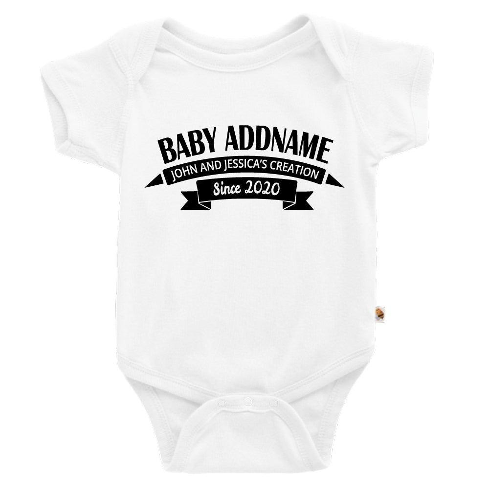 Teezbee.com - Name With Creation - Romper (White)