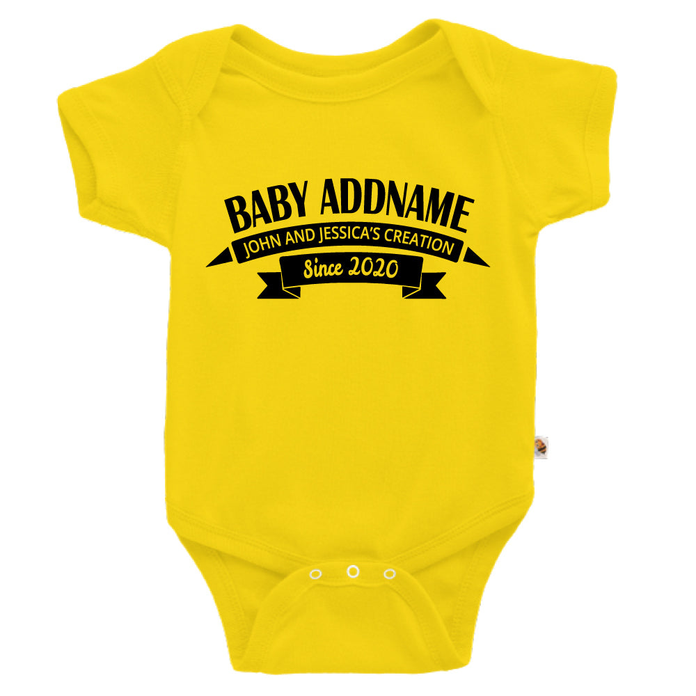 Teezbee.com - Name With Creation - Romper (Yellow)