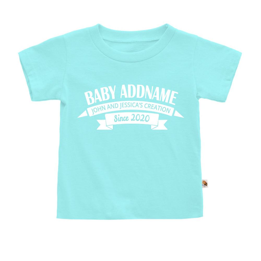 Teezbee.com - Name With Creation - Kids-T (Light Blue)