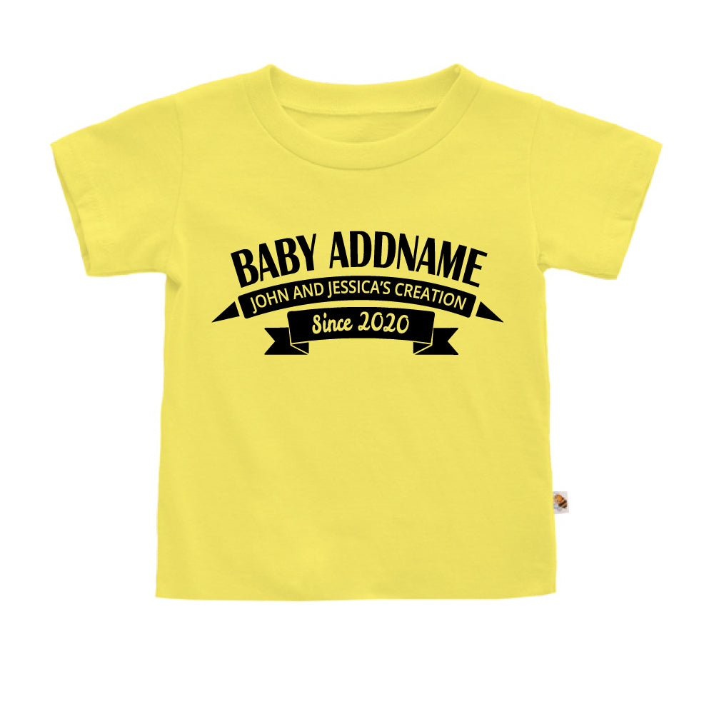 Teezbee.com - Name With Creation - Kids-T (Light Yellow)
