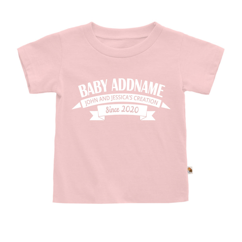 Teezbee.com - Name With Creation - Kids-T (Pink)