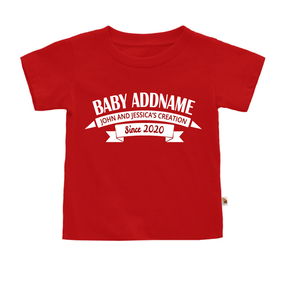 Teezbee.com - Name With Creation - Kids-T (Red)