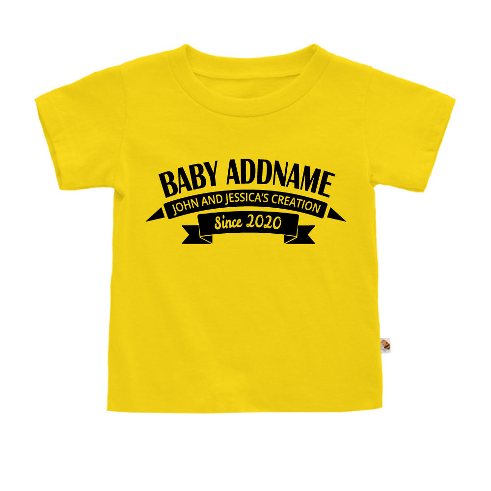 Teezbee.com - Name With Creation - Kids-T (Yellow)