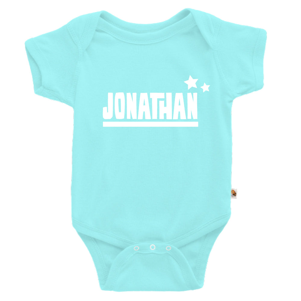 Teezbee.com - Name With Little Star - Romper (Light Blue)