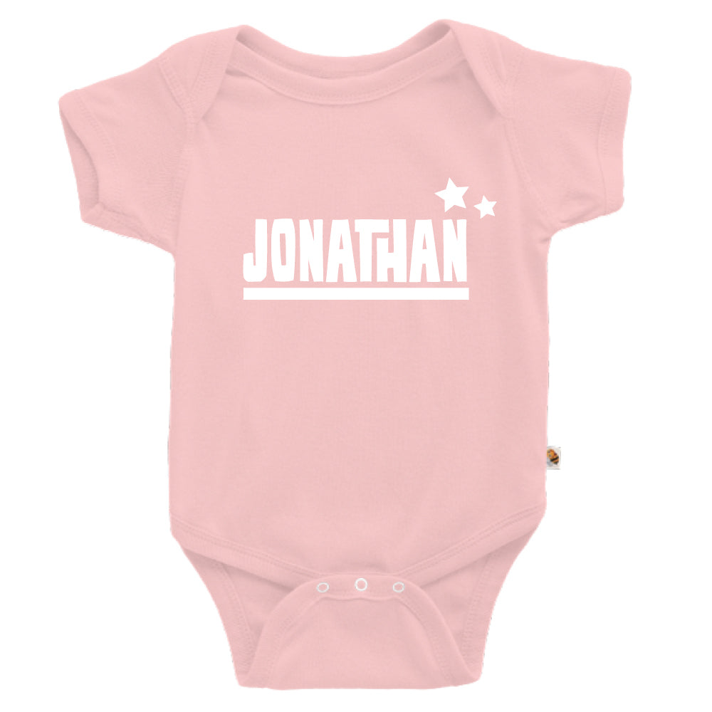 Teezbee.com - Name With Little Star - Romper (Pink)