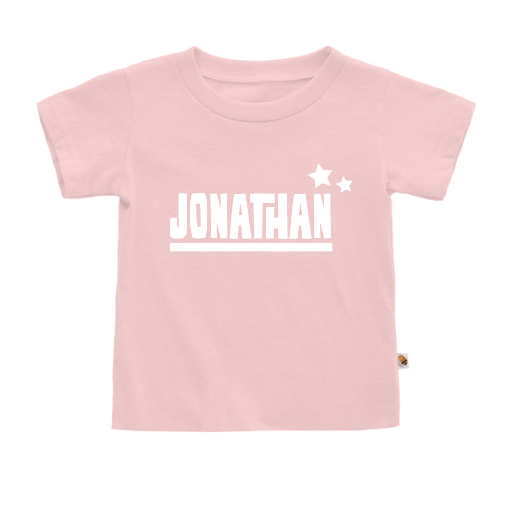Teezbee.com - Name With Little Star - Kids-T (Pink)